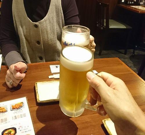 久しぶりに女房と乾杯