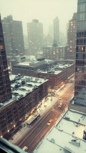 Cityscape Urban Skyline Snow
