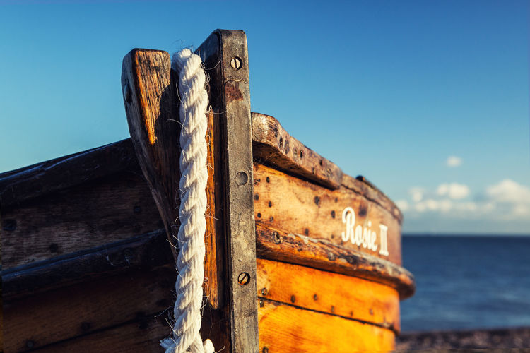fishing boat EyeEm Nature Lover Nature Nature Photography Blue Close-up Damaged Day Enjoying Life First Eyeem Photo Focus On Foreground Metal Mode Of Transportation Nature_collection Nautical Vessel No People Old Outdoors Rusty Sea Ship Sky Transportation Water Weathered Wood - Material