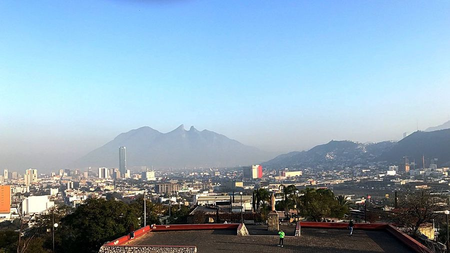 Obispado Monterrey Mountain Cityscape Architecture Building Exterior Clear Sky Built Structure Crowded City Outdoors Sky Day Mountain Range People