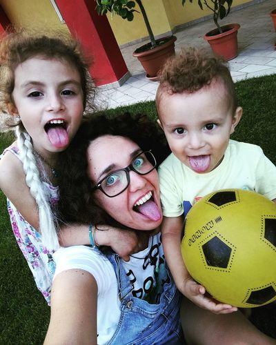 Looking At Camera Portrait Togetherness Smiling Fun Child Girls Childhood 2017 Sunny Day Babyboy ❤ Nephew ♡ Niece 💕 Niece & Nephew AuntieTime Bonding Sunday Ball Playing Selfieoftheday Myeverything💋