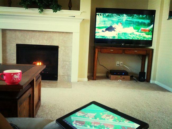 relaxing day off watching mushy movies <3