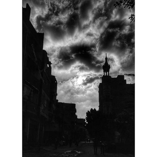 Architecture Building Exterior Cloud - Sky Outdoors Low Angle View No People Built Structure Sky Day City Politics And Government Mobilephotography Beauty In Nature Egyptphotography P8lite Sunbeam Religion Muslim Culture Musque Masjid Blackandwhite