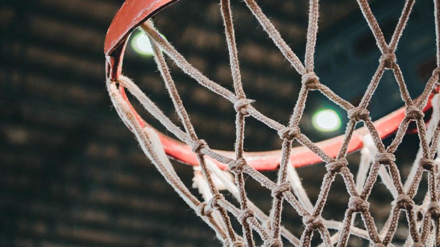 Close-up of basketball goal
