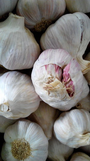 Full frame shot of garlic