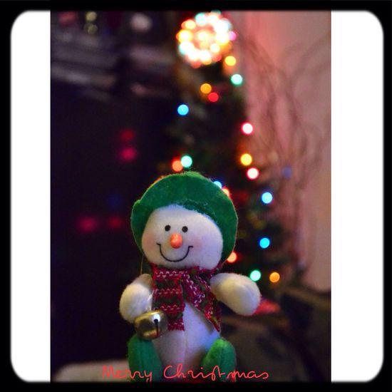 Merry Christmas! Snowman Christmas Lights