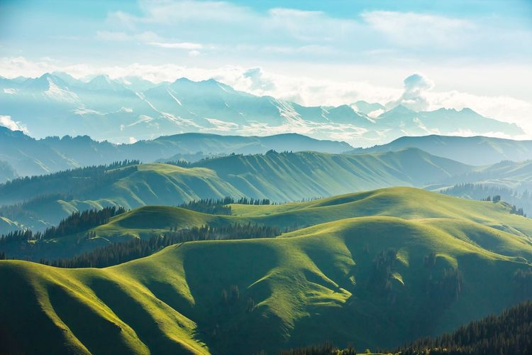 tianshan mountain Mountain Landscape Mountain Range Nature Tianshan Breathing Space
