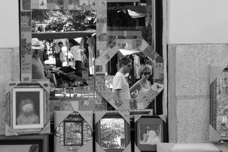 Group Of Objects Power Supply Casual Clothing Large Group Of Objects Repetition Retail  Shelf Choice Person Monochrome Photography Freshness Rastro Madrid SPAIN Mirror Reflection Reflections Blackandwhite Check This Out Hello World Taking Photos Enjoying Life EyeEm Best Shots Fleamarket Flea Markets The Street Photographer - 2018 EyeEm Awards