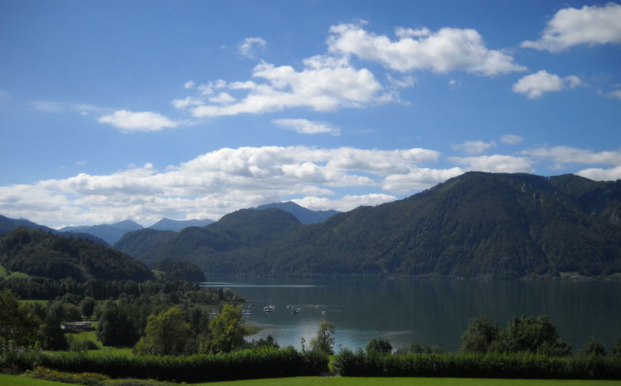 Austria Cloud - Sky Day Lake Landscape Mondsee Mountain Nature No People Oberösterreich Outdoors Sky Water