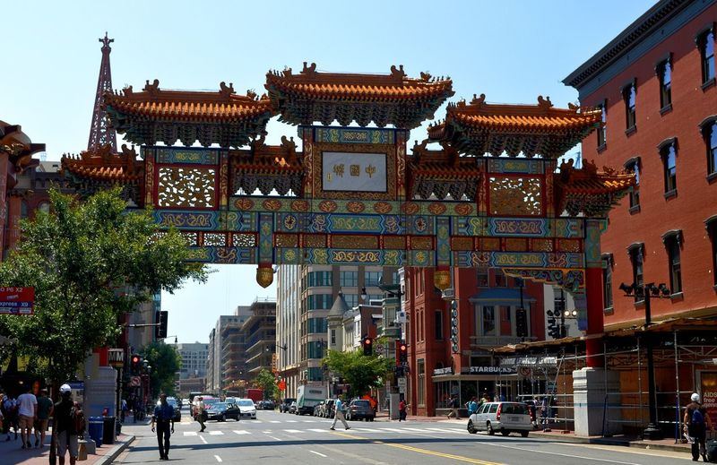 Chinatown arch in washington dc