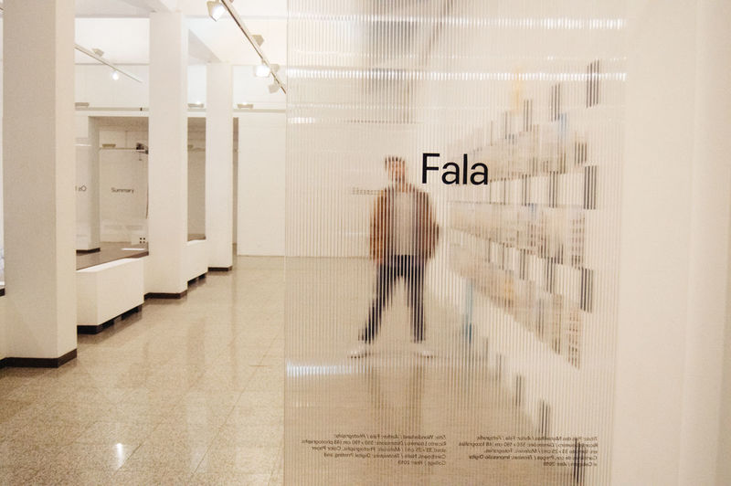 Fala II Blurred Motion Motion Architecture Indoors  Text Communication One Person Real People Walking Reflection Men Building Glass - Material Transparent Full Length Modern Minimalism Minimal White Background Model Mensfashion Boy Museum Western Script Illuminated Built Structure Wall - Building Feature Flooring Digital Composite Composition