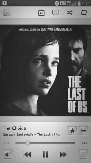 Listening to the Last of Us Soundtrack ... The Last Of Us Soundtracktomylife Soundtrack Blackandwhite