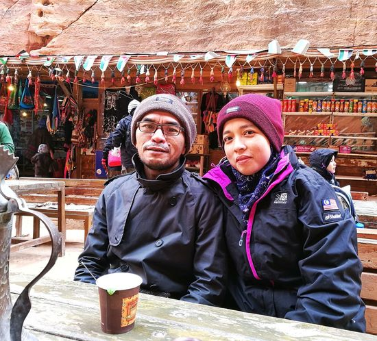 Hot tea in Petra, Jordan Looking At Camera Togetherness Portrait Family Smiling Two People Adult Men Happiness People Mature Adult Outdoors Child Day Cheerful Sitting Bonding Females Women Real People Tea - Hot Drink Tea Time! Coffee Time Wintertime Connected By Travel Second Acts EyeEmNewHere