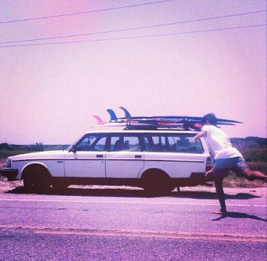 Obx trip back in the day. Singlefin Longboards Hangten Volvocars Volvo240