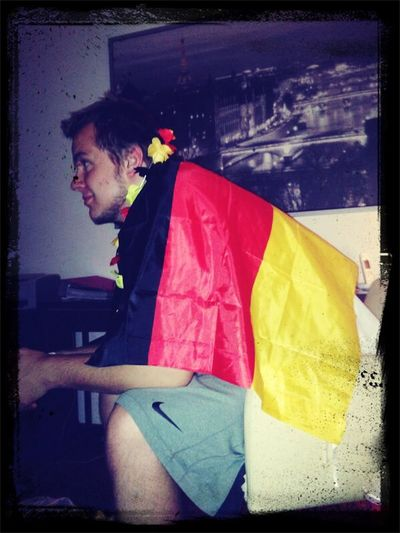 People Watching Germany Brazil 2014 World Cup Love