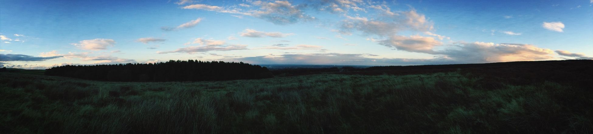 The peak district , at twilight Walking Around Sheffield Evening Sky Ramble