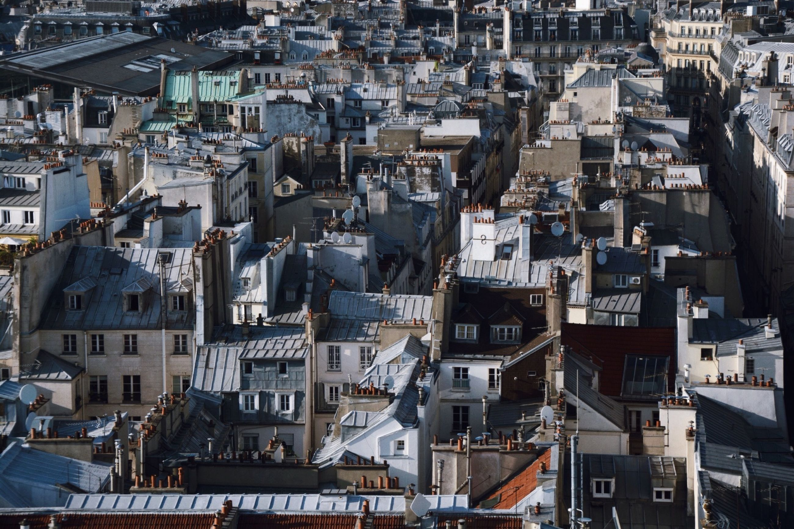 building exterior, architecture, built structure, crowded, high angle view, city, cityscape, residential district, residential structure, roof, residential building, house, town, townscape, day, development, outdoors, city life, community, no people