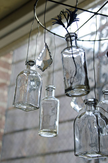 Bottles Bottles Collection Close-up Day Electricity  Focus On Foreground Hanging Indoors  Light Bulb No People