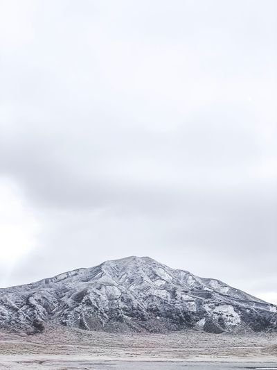 Sky Winter Cold Temperature Cloud - Sky Mountain Snow Day Nature No People Tranquility Beauty In Nature Scenics - Nature Non-urban Scene Environment Outdoors Mountain Range Tranquil Scene Snowcapped Mountain Landscape Mountain Peak