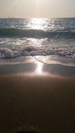 Nature Sea Sunset Water Nature Beach Sky Scenics Beauty In Nature Idyllic Horizon Over Water Outdoors Tranquility Wave Sand Awe Sun No People Backgrounds Day Crete Greece Matala Komos Beach