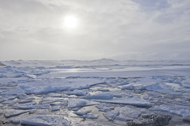 Cold Cold Temperature Day Frozen Glacier Ice Ice Iceberg Iceland Lagoon Landscape Sky Snow Sun Water Winter