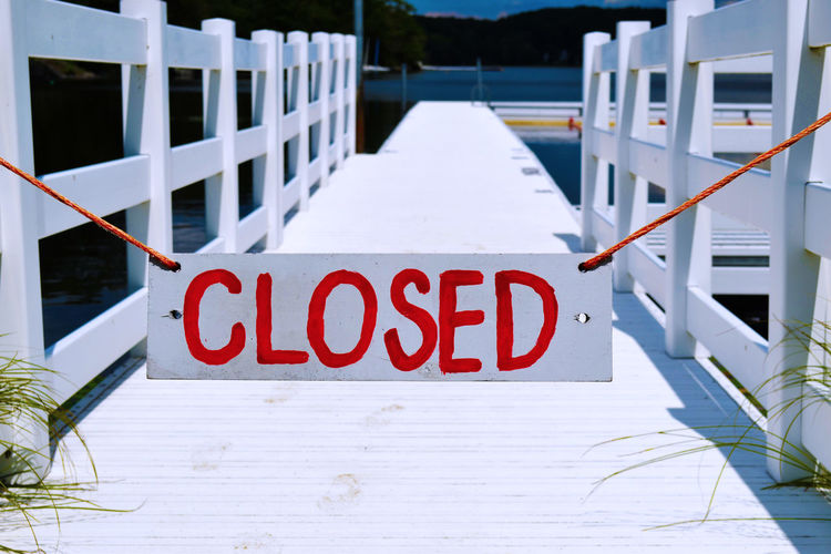 Closed Sign On Pier