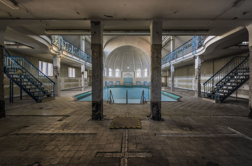 It's just you and the pool Architectural Column Architecture Day Decay Decayed Beauty Indoors  Lost Lostplaces Natural Light Nikon D750 No People Old Photography Pool Space Swimming Pool Tamron 15-30mm Tiled Floor Ue Urban Exploring Urbanphotography Urbex_prestigious Urbexexplorer Urbexgermany Urbexphotography