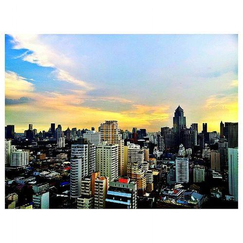 The great sky from my office 30th floor of Sofitel Bangkok Sukhumvit Sofitel Sofitelbangkoksukhumvit