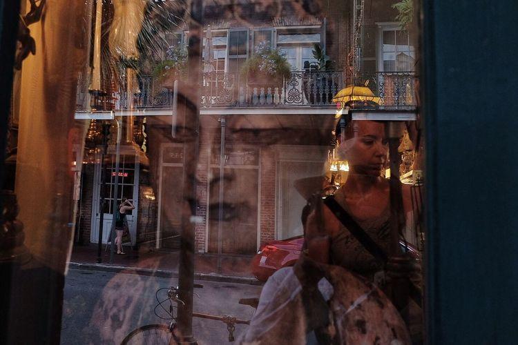 U.s. Trip 2018 The Street Photographer - 2018 EyeEm Awards Women Of EyeEm EyeemPhilippines FilipinoStreetPhotographers Streetphotography Everydayeverywhere Colors One Person Window Reflection Adult Glass - Material Night Real People Retail Display