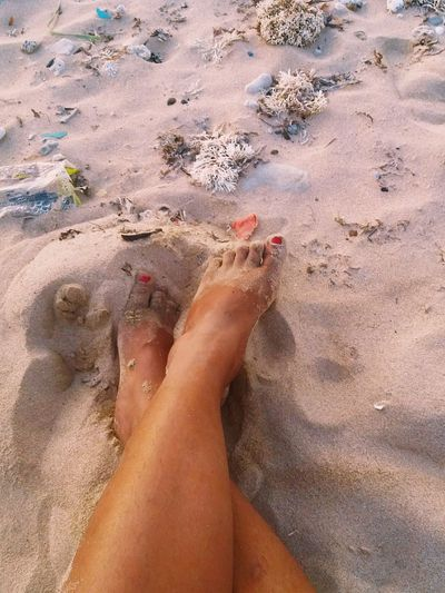 Sand Water Beach Human Body Part Lifestyles Relaxation One Woman Only Only Women Sea