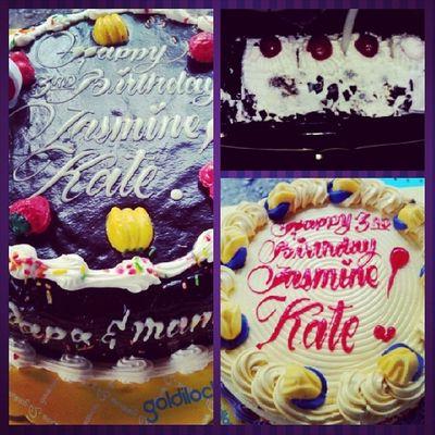 3 cakes for Kate's 3rd birthday celebration!! Kate 3rdbirthday