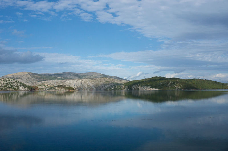 Beauty In Nature Blue Cloud - Sky Day Lake Landscape Mountain Nature No People Outdoors Peaceful And Quiet Peaceful Place Reflection Scenics Sky Tranquil Scene Tranquility Water