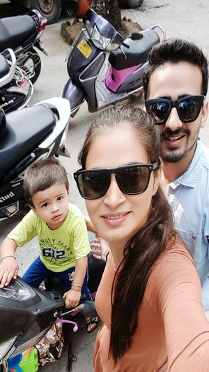 Family time Andmanandnicobar Sunglasses Child Funny Faces Togetherness Happiness Beach