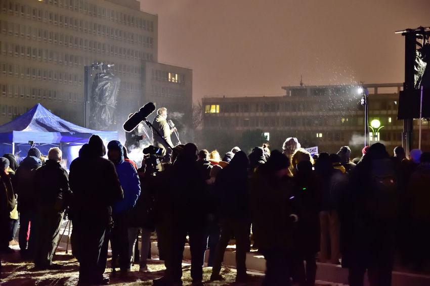 """We don´t want back 90´s"", March / Demonstration for Jan Kuciak and Martina Kusnirova, Bratislava, Slovakia 2.3.2018, 17.00 Activists City Democracy Journalist Meeting Protest Bratislava Demonstration Freedom Of Expression Journalism Liberty Of Speech March Mass Of People Night People Pressman Protesters Protesting Protestor Street Street Full Of People"
