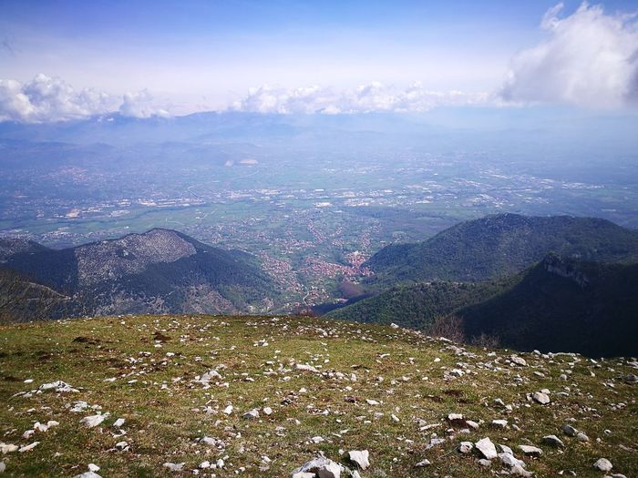 Aerial View Blue Flying Nature Scenics Outdoors Beauty In Nature Mountain Cloud - Sky Sky Day No People MonteGemma 1450m