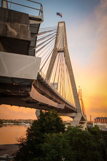 ANZAC ANZAC Bridge Architecture Bridge - Man Made Structure City Outdoors Pyrmont Sky Sunrise Sunrise_Collection Sunrise_sunsets_aroundworld Sydney Sydney, Australia Travel Destinations