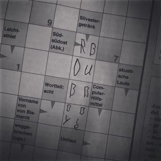 Crosswords - a crative way. Crossword Crosswords Kreuzworträtsel Quiz Creativity Creative Riddle Newway Blackandwhite Black And White Black & White Newspaper Newspapers EyeEm Gallery Funny Funny Pics Funny Moments Kids Being Kids Kids Kids Having Fun Junior