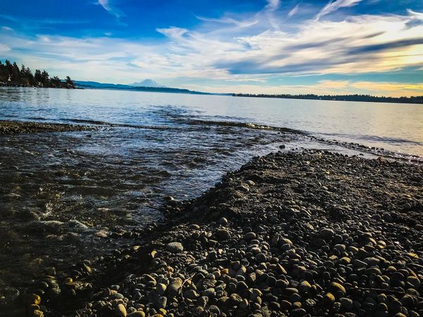 Water Nature Beach Sea Shore Beauty In Nature Sky Horizon Over Water Cloud - Sky Tranquility Pebble Beach Tranquil Scene Pebble Outdoors Scenics Day No People