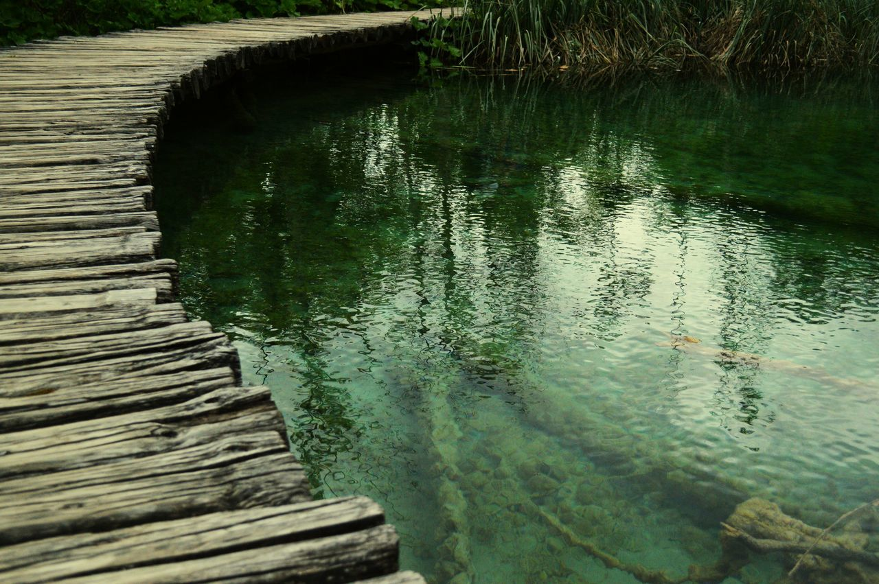 water, lake, reflection, nature, outdoors, grass, no people, day