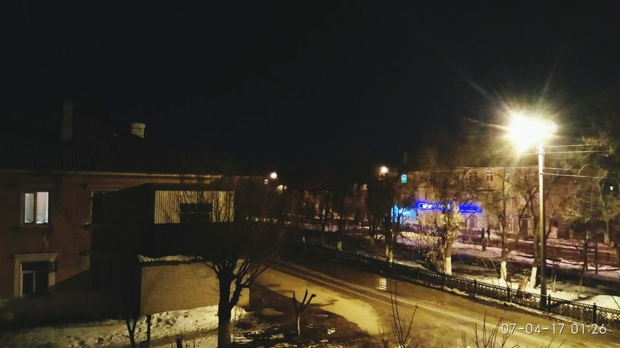 Night Illuminated Rail Transportation Winter Tree Outdoors No People Sky