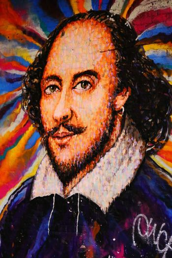 Shakespeare Mural Mural Art ArtWork Art, Drawing, Creativity Portrait Close-up London In Colours Colours Colours And Patterns Adapted To The City Art Is Everywhere