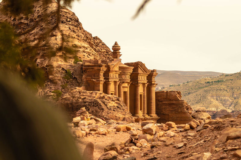 Al Deir monestary Petra Petrajordan Amazingplaces Amazingarchitecture Amazing Awesome_earth Landscape Landscape_photography Landscape Photography Landscape_lovers Ancient Civilization Place Of Worship Desert Old Ruin Ancient Architectural Column History Archaeology Ancient History Civilization Tomb