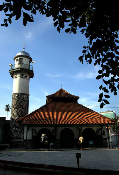 Old Mosque at Jakarta Architecture Building Exterior Built Structure City Color Image Day Islam Jakarta Mosque No People Old Mosque Outdoors Photography Sky Travel Destinations Vertical