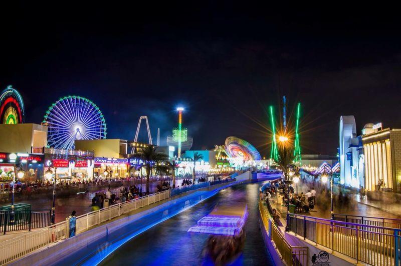 The Global Village in Dubai at Night First Eyeem Photo The Week On EyeEm