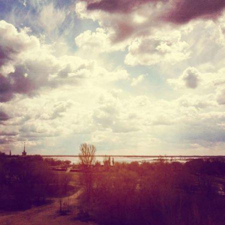 On the Bridge Nature Spring Sky Clouds Природа весна небо облака Naturo Printempo Cielo Nuboj