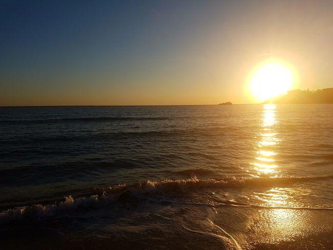 Gaeta Gaeta, Italy Relaxing ♥ Ferie Woow Beautifull Sea And Sky Mare ❤ Voglio Vivere Qua Beach Nature Horizon Over Water Water
