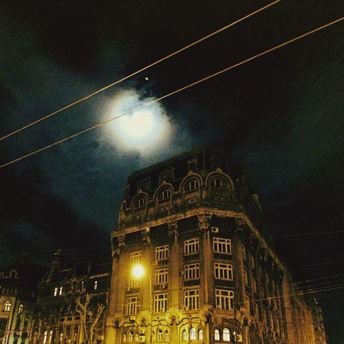Bucharest Night Full Moon Streetphotography