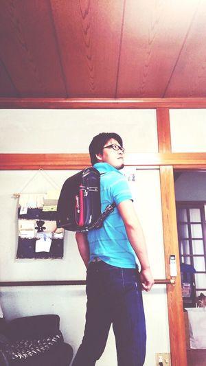 甥っ子のランドセルをむりやり背負う大阪の叔父さん🎒😜 Check This Out MyHusbandRocks Hello World Hometown Yamagata,Japan