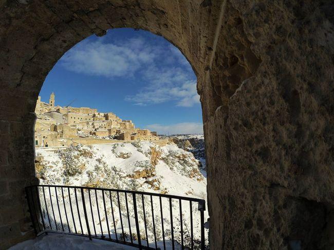 Architecture Sky History Travel Destinations Italia Sassidimatera Southitaly Italy Matera City Tourism Winter Snow