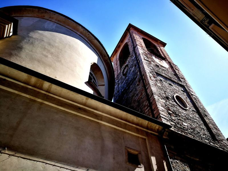 Narrow Streets Narrow Street Bell Tower Italy Arts Culture And Entertainment Stresa Italy City Fame Sky Architecture Built Structure Building Exterior Directly Below Architectural Feature